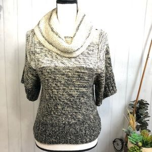 New Look Ombre 1/2 Sleeve Cowl Neck Sweater M